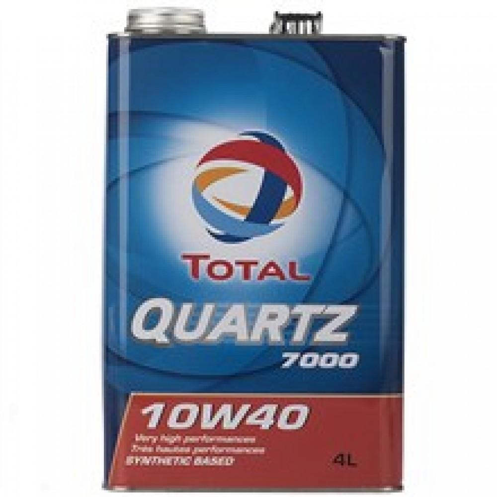 روغن موتور خودرو توتال مدل Quartz 7000 حجم 4 ليتر
